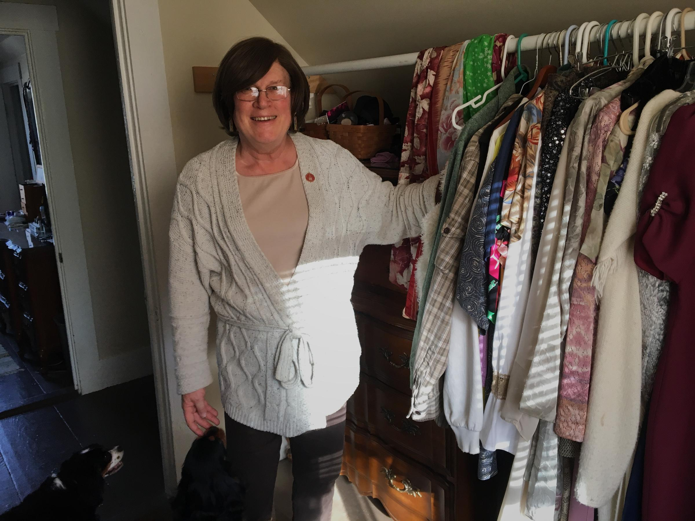 1581c55b39a Gerri Cannon in her closet with her two King Charles spaniels