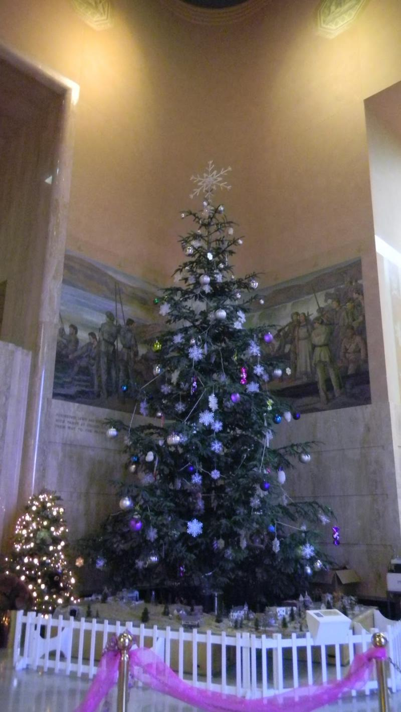 The Oregon Capitol Building's Christmas tree is a 30-foot Noble Fir.