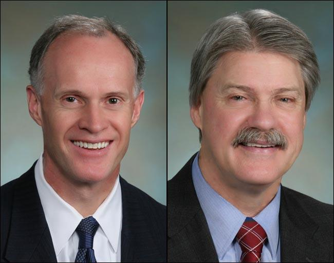 Democratic Senators Rodney Tom, left, and Tim Sheldon will caucus with Republicans.