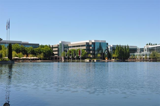A view of the Nike World Headquarters campus in Beaverton, Oregon.