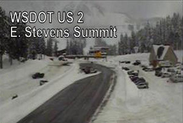 View of Stevens Summit on US Highway 2.
