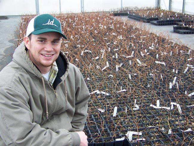 Kevin Judkins is one of the owners of Inland Desert Nursery outside of Benton City, Wash. He recently cut a deal to sell 10,000 wine grape vines to a Chinese company.