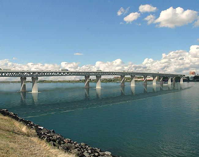 A rendition of the proposed I-5 bridge over the Columbia River.