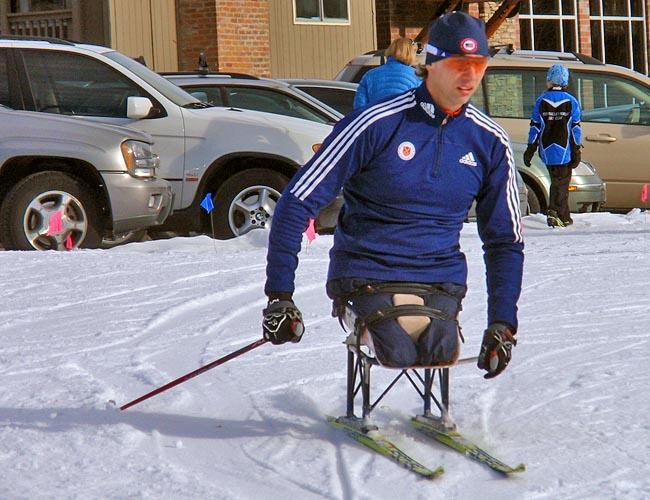 U.S. Paralympic National Team member Andy Soule races during the 2013 Sun Valley Nordic Festival.