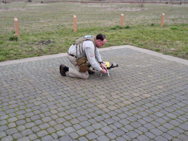 Patrick Sherman prepares his drone for a flight at a park in Wilsonville, Oregon.