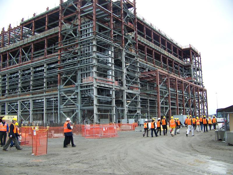 File photo of part of Hanford's Waste Treatment Plant being built outside Richland, Wash.