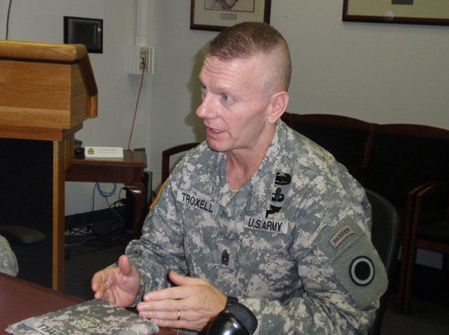 Command Sergeant Major John Troxell