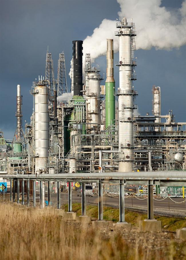 The BP Cherry Point Refinery in Washington benefits from a tax break on fuel created and burned on-site. Photo by BP plc