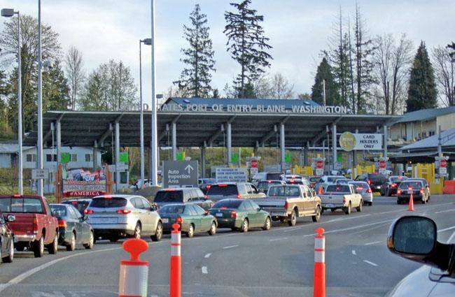 File photo of Pacific Highway port of entry in Blaine, Wash.