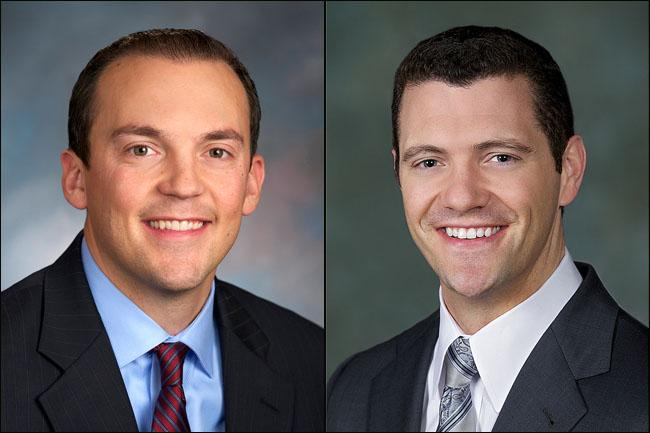Washington state Rep. Marcus Riccelli (left) and state Senator Joe Fain have defended their frequent dining with lobbyists.