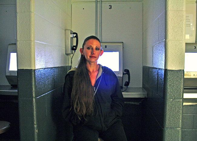 Jennifer Lopez, 30, of Pocatello, Idaho, says a video system that has replaced in-person visits at the Bannock County jail is hard to navigate and often has technical problems.