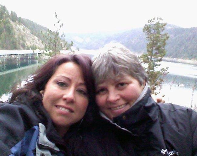 Charli Deltenre, left, and her fiance Peggy live in Coeur d'Alene, Idaho, but plan to get married in Washington.