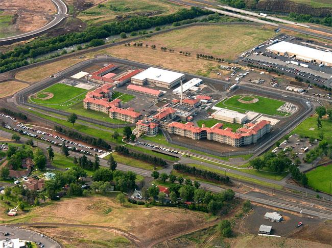 Aerial view of Eastern Oregon Correctional Institution in Pendleton, Oregon.