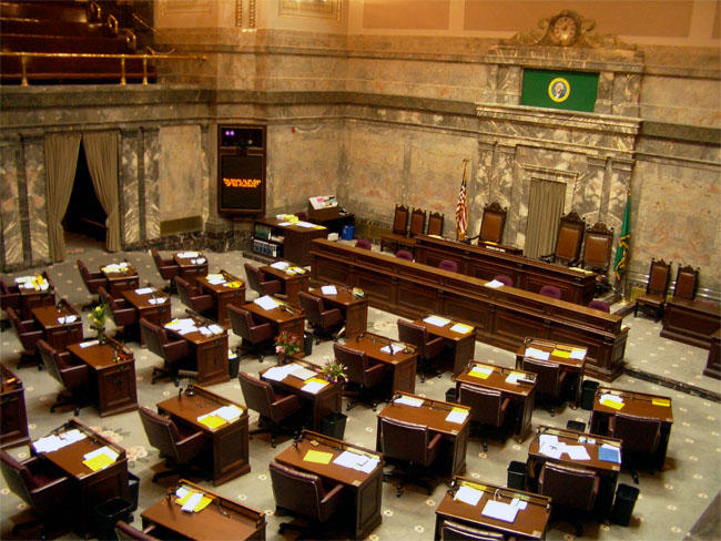 File photo of the Washington state Senate chamber.