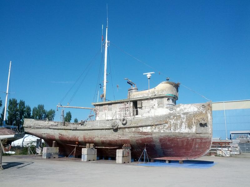 The dry-docked sardine fishing boat once chartered by writer John Steinbeck now faces an uncertain fate.