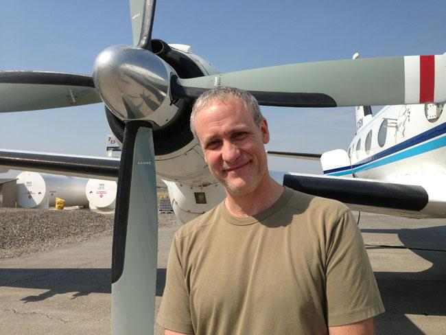 Art Sedlacek is conducting research in a small plane to collect soot from wildfires in hopes of understanding if smoke particles impact climate change.