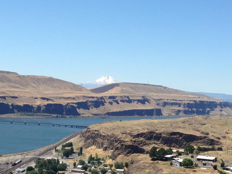 Robert Zornes' property near Wishram, Washington is where the Bonneville Power Administration proposes to cross a new transmission line across the Columbia River Gorge.