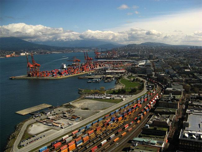 A pilot project could make international cargo inspections more efficient. Shown, a file photo of the Vancouver waterfront.