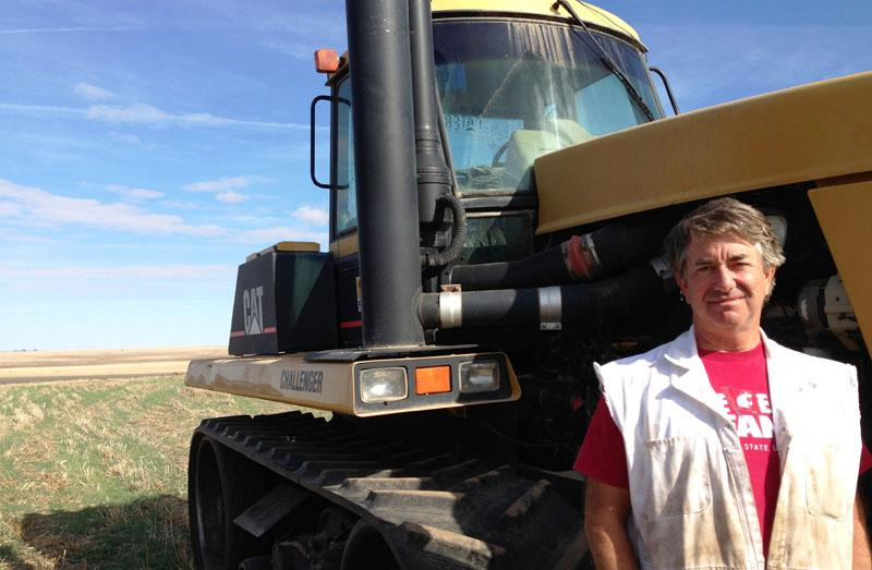 Eric Maier farms 7,000 acres of wheat and cattle near Ritzville, Washington. He says labeling GMO foods would possibly curtail an option that would keep his farm competitive globally in the future.