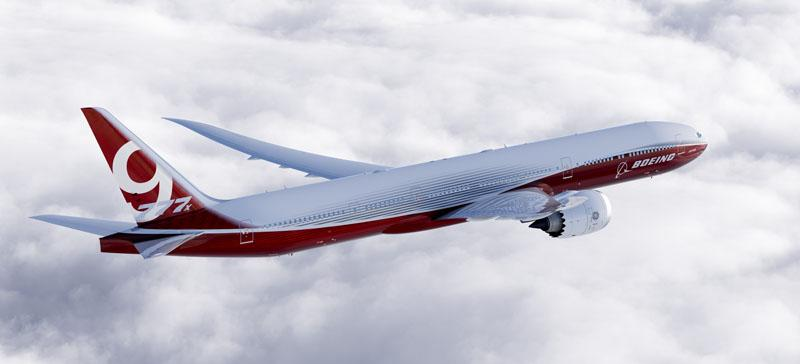 File photo of the Boeing 777x. Production of the 777X is scheduled to begin in 2017