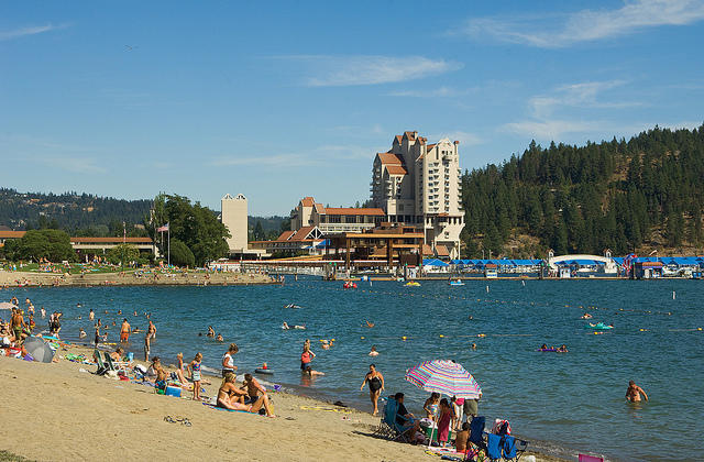 The Coeur d'Alene Resort in north Idaho.