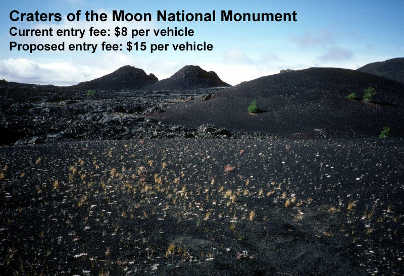 A view of Spatter Cones at Crater of the Moons National Monument