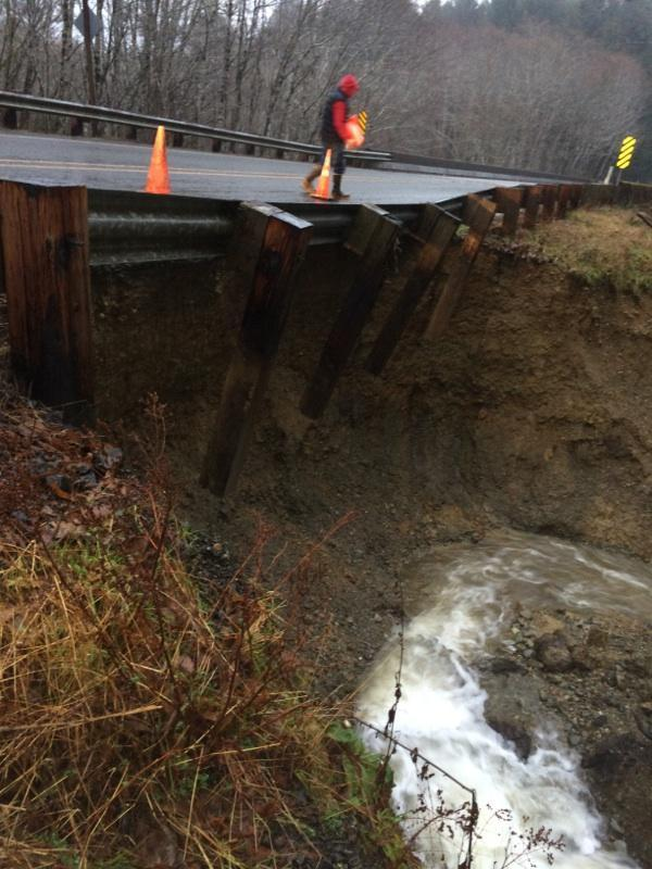 Flood waters undermined the Moclips Highway