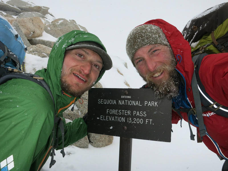 Justin Lichter (left) and Shawn Forry at the highest point on the PCT.