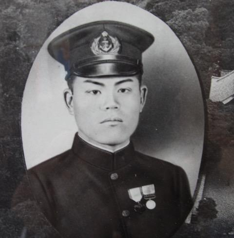 This is a picture of the man who carried the flag into war. Shigeyuki Yoneyama died in the Philippines at Zamboanga.
