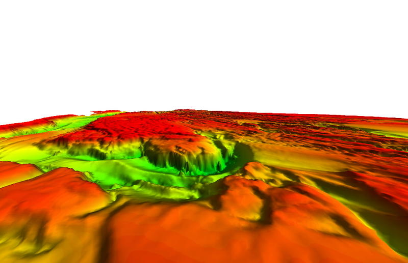 A 2008 sonar survey showing Celilo Falls remains intact.