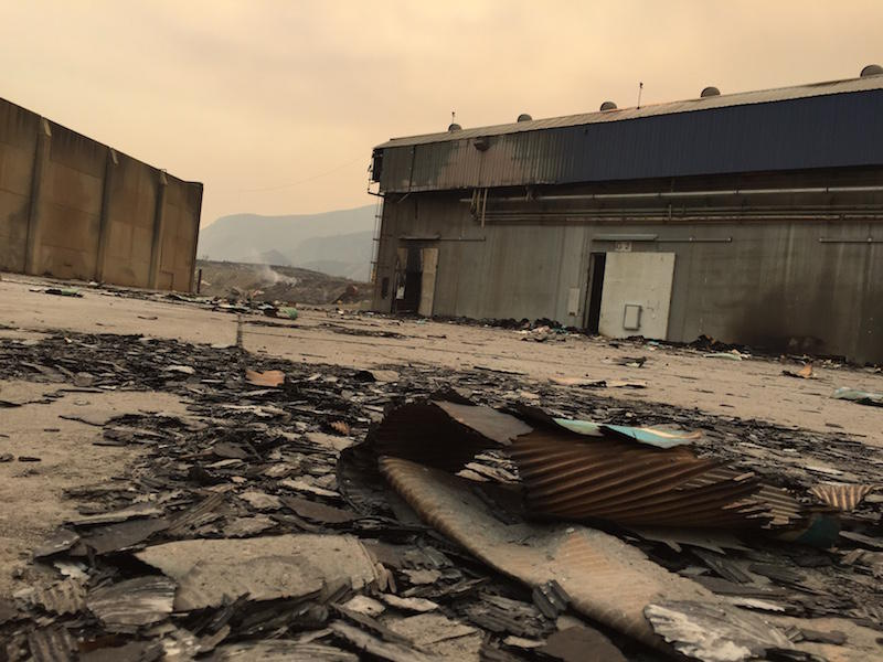Chelan Fruit lost several large warehouses and tons of equipment and fruit bins in the Chelan Complex fire. Two-hundred farmers and managers are scrambling to come up with a fruit-shuffling plan before the bulk of apple harvest.