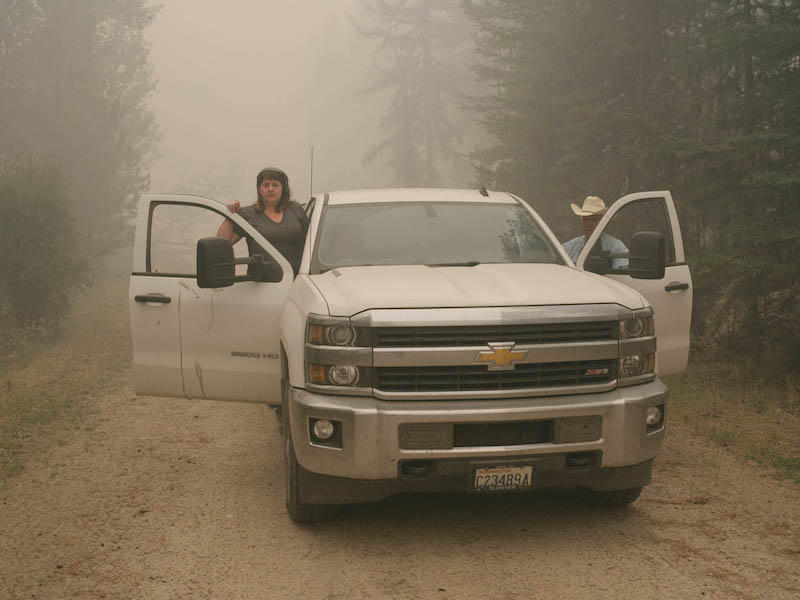 Anna King and Craig Vejraska traveled up into the high mountains outside of Omak to search for his cattle amid the fires.