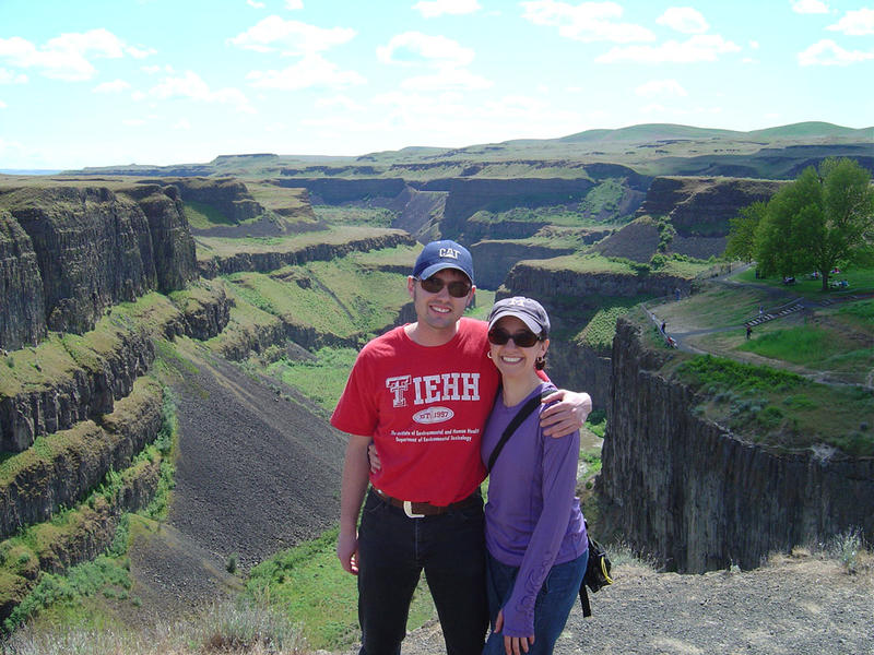 Frannie Smith and her husband Jordan during a trip to Palouse Falls. ''We love calling the Tri-Cities 'home' together,'' she said.