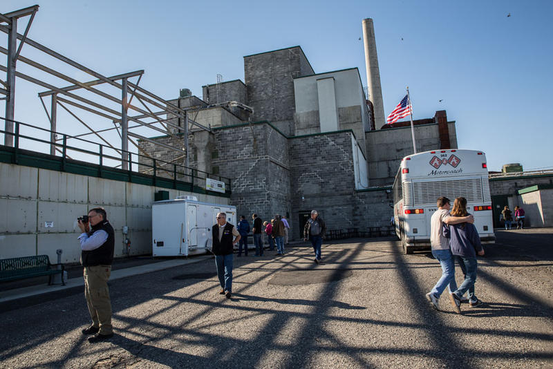 A tour group arrives at Hanford's B Reactor. More than 60,000 visitors have toured the B Reactor since 2009.