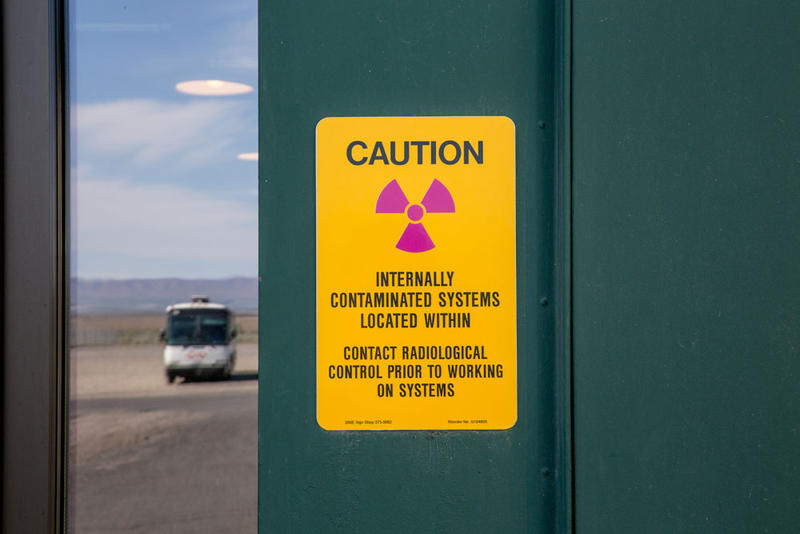 Ominous signs are seen throughout B Reactor, although hazards are sealed or removed in sections open to visitors.