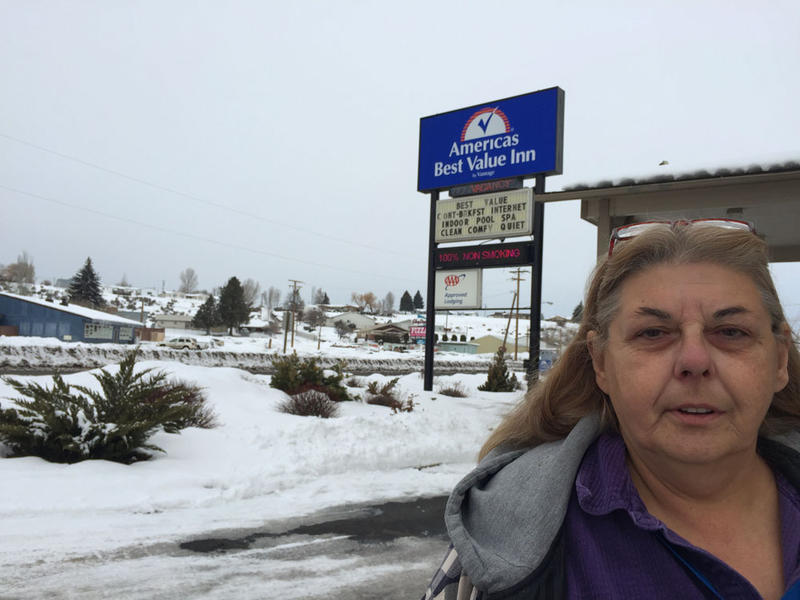 Vickie Allen manages the America's Best Value Inn in Burns, Oregon. She says she's never seen the hotel this busy during deep winter. She's been sold out, or nearly full every night, since the Malheur National Wildlife Refuge occupation began.