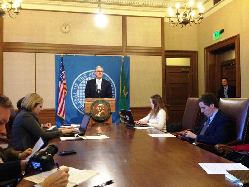 Washington Governor Jay Inslee says he is 'undaunted' by a partisan dust-up over school funding that could threaten months of bipartisan negotiations.
