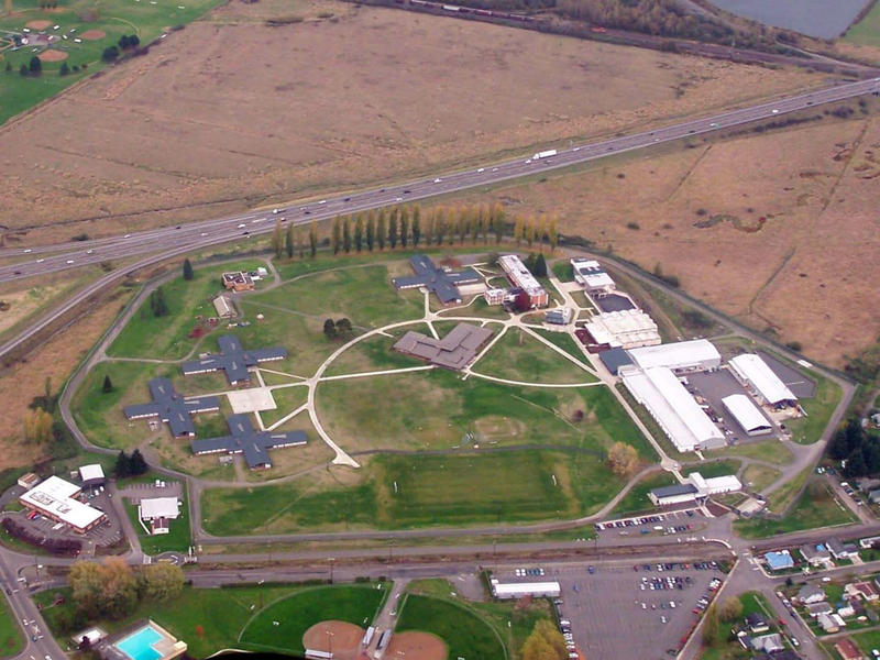 Aerial photo of Green Hill School in Chehalis, Washington. A female counselor at the facility is accused of having sex with a male resident.