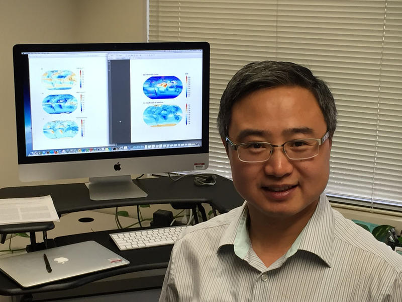 Hailong Wang, of the Northwest National Laboratory uses complex computer modeling to predict how much soot is falling from the air onto snowpacks across the world.