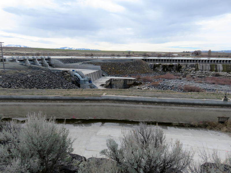 It's a strange sight to see the Snake River completely dry for a short stretch below Milner Dam near Hazelton, Idaho. In early March, all of the river's water was being diverted for aquifer recharge or being held back for spring irrigation.