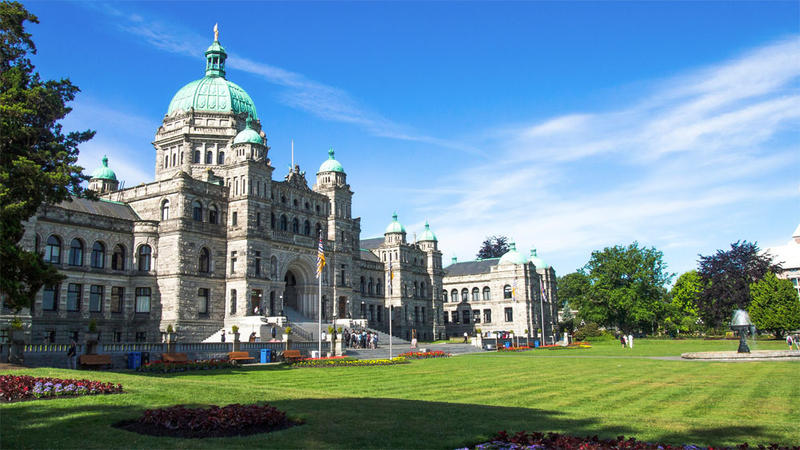 File photo of the British Columbia Parliament Buildings in Victoria, Canada.