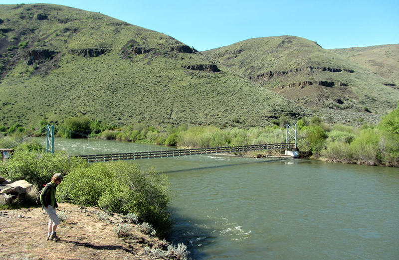 The Yakima River is running full from bank to bank with heavy snowmelt as seen here at Umtanum.