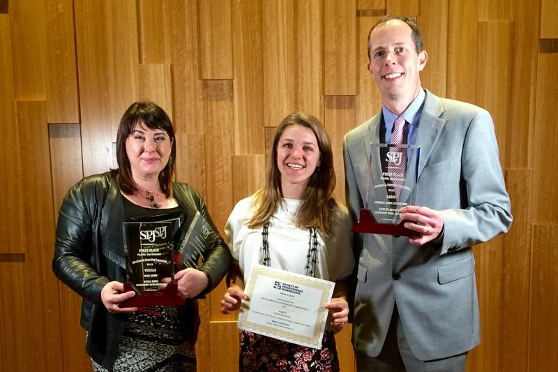 Our correspondents Anna King, Emily Schwing and Austin Jenkins won recognition from their peers at the Society of Professional Journalists Northwest Excellence in Journalism Gala Saturday June 18, 2016 in Seattle.