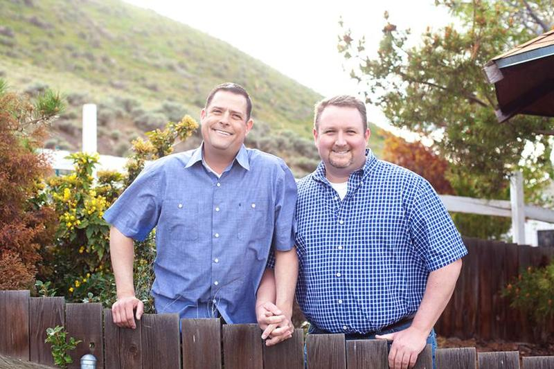 Robert Ingersoll, left, and Curt Freed were refused service by the owner of Arlene's Flowers in Richland, Washington, for their 2013 wedding.