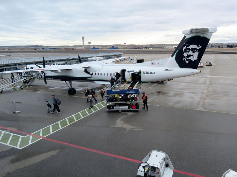 Horizon Air's turbo-prop planes fly under the Alaska Airlines livery. The sister carriers have a common corporate parent, Alaska Air Group.