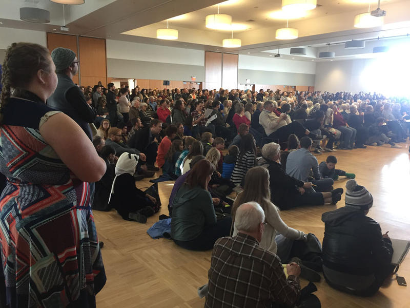 More than 1,500 people gathered to show support for Spokane's immigrant and refugee communities Sunday afternoon.