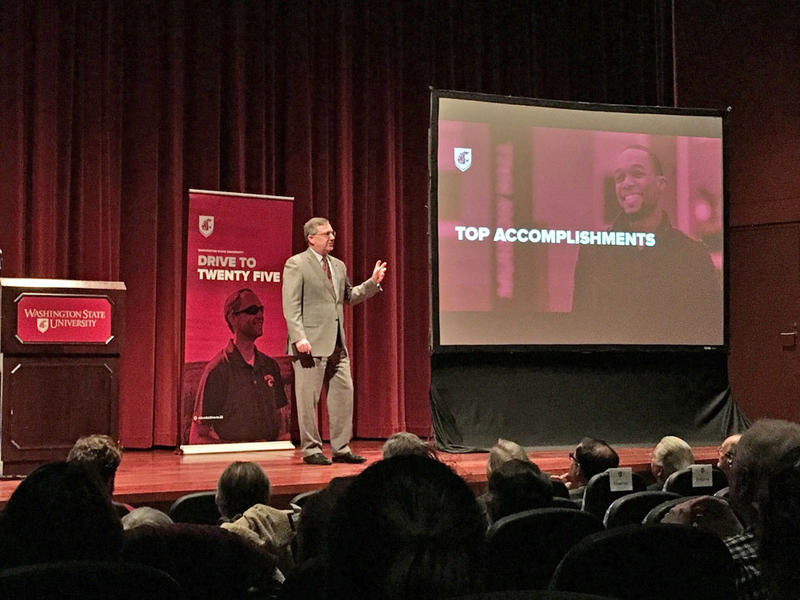 Washington State University President Kirk Schulz delivered his first State of the University address Thursday.