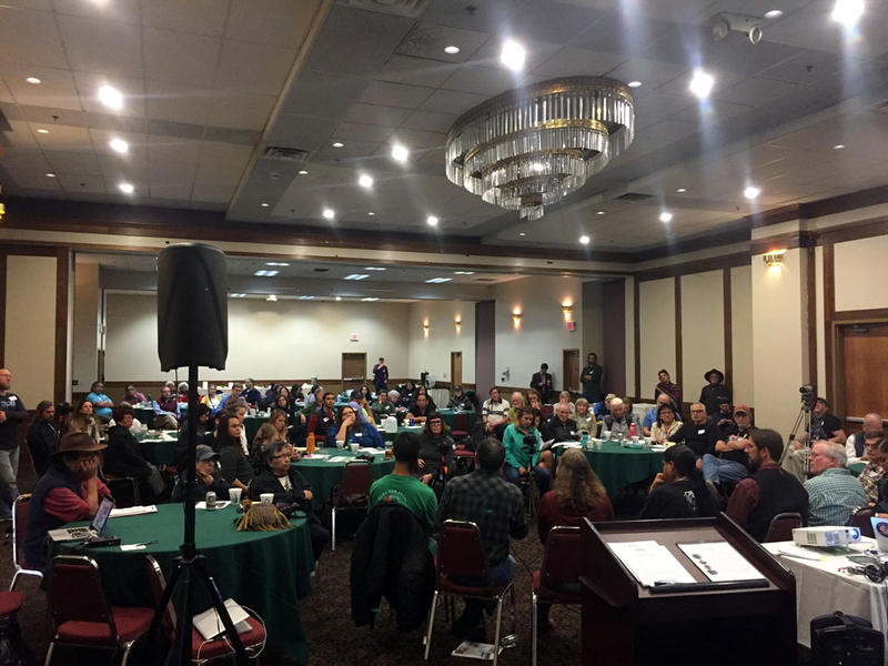 Roughly 100 people gathered to discuss treaty rights and what tribal sovereignty means at a conference hosted by Nimi'ipuu Protecting the Environment in Lewiston, Idaho.