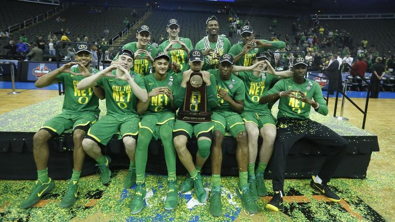 The Oregon Ducks men's basketball team beat Kansas to earn their slot in the 2017 Final Four.