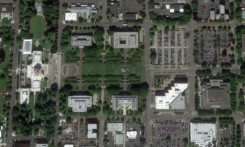 The proposed Oregon Resilience Buildings One and Two would replace surface parking lots along the Capitol Mall in Salem.